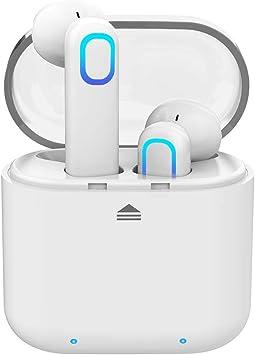 Auriculares Inalámbricos Bluetooth Sonido Estéreo Cancelación de Ruido IPX5 Resistente al Agua con Caja de Carga y Micrófono Integrado para iPhone Samsung Huawei etc: Amazon.es: Electrónica