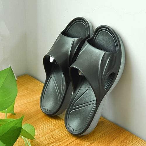 Mens Slide Sandals Anti-Slip Stylish Beach Sandals Shower Shoes Black