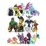 B-Creative My Little Pony Mini Action Figures Unicorn Rainbow 12pcs Cake Topper Kids Toys