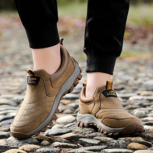 Gracosy Slip On Sneaker, Sneakers Casual Da Trekking Per Uomo, Scarpe Antiscivolo Antiscivolo Marrone