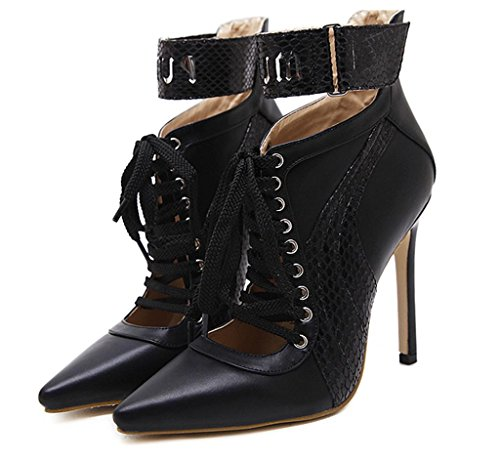 Pump Heel Fashion shoes Mid Black Strap Shoes Womens Court Size Casual New Ladies Work Smart MNII qwUI1zOI