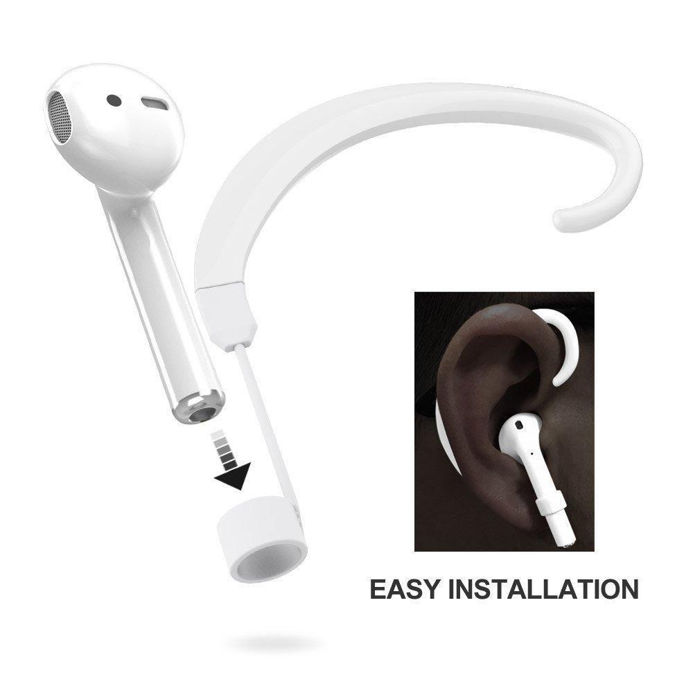correa de 1/par anti-lost para Airpods inal/ámbrico gancho accesorios soportes compatible para Apple Iphone X//8//8/Plus//7//& iPhone 7/Plus Airpods PAWACA para Airpods correa