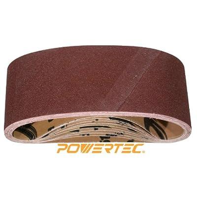 POWERTEC 110090 4-Inch x 24-Inch 80 Grit Aluminum Oxide Sanding Belt, 10PK from POWERTEC
