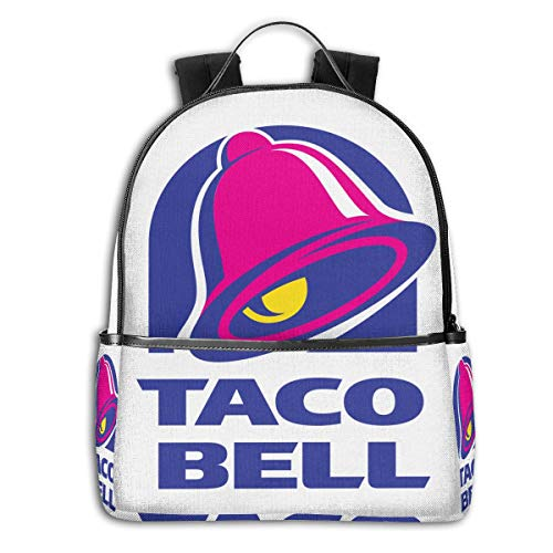 Illuminati Triangle Art Majestic Bell With Taco Funny Backpacks Laptop Book Bag Casual Durable Backpack Lightweight Travel Pack For Men Women