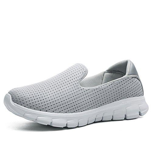 JACKSHIBO Go Ginnastica Sneaker Slip Walk Leggero On Scarpe Basse da Grigio2 Donna 1rzq41