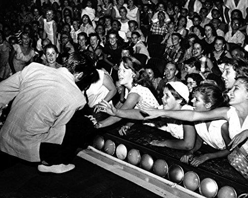 Globe Photos ArtPrints Elvis Presley Performing And Fans In Miami, Florida - 10
