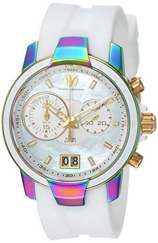 Technomarine Women's UF6 Stainless Steel Quartz Watch with Silicone Strap, White, 20 (Model: TM-615019