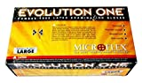 BarrierSafe Solutions International EV-2050-XL Microflex Evolution One 5 1/2 mil Latex Ambidextrous Non-Sterile Powder-Free Disposable Gloves with Textured Finish, X-Large, 10'', Natural
