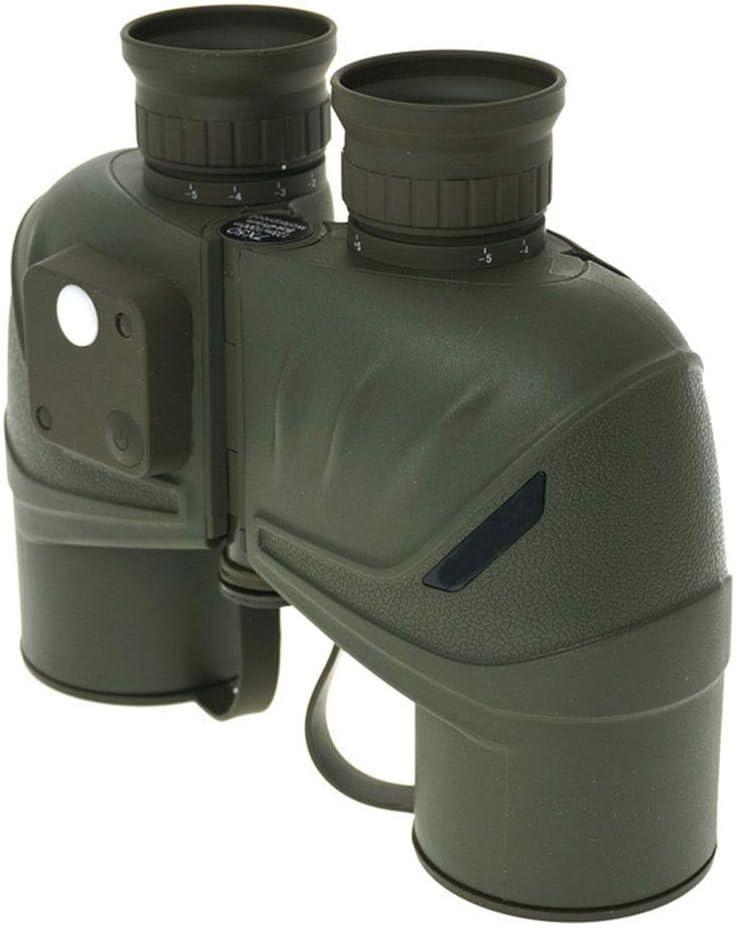 ZGQA-AOC Monocular telescopio de los prismáticos 7 * 50 Gran aumento HD Prismáticos de Waterpoof van brújula Coordenadas for Marine Cruise Senderismo verde del ejército de la caza (Color: verde del ej