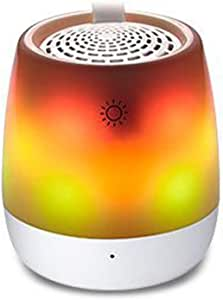 Creative Wireless Portable Bluetooth Speaker, Mini Night Light Card Bluetooth Audio Night Light Card Small Speaker,Yellow
