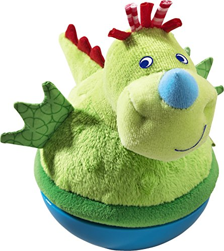 HABA Roly Poly Dragon Soft Wobbling & Chiming Baby Toy ()