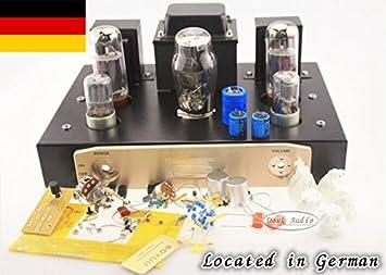 EL34 terminación única Clase A puro amplificador de válvulas Kit Röhrenverstärker HIFI DIY12W * 2