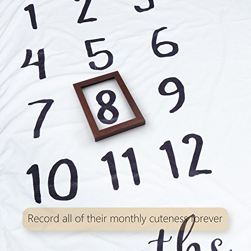 """Baby Milestone Blanket, Ideal Baby Shower Gift for Babies/Newborn/New Mom, 47"""" x 40"""", Create Moments to Memories Watch Me Grow Blanket by NOVEMBER SPRING (Image #4)"""