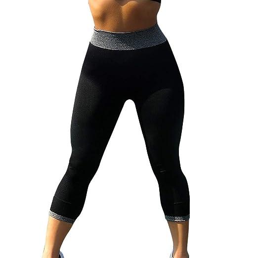 434dfe430b Winsummer Women's Sports Mesh Yoga Pants High Waist Workout Capri Leggings  Workout Fitness Running Active Tights
