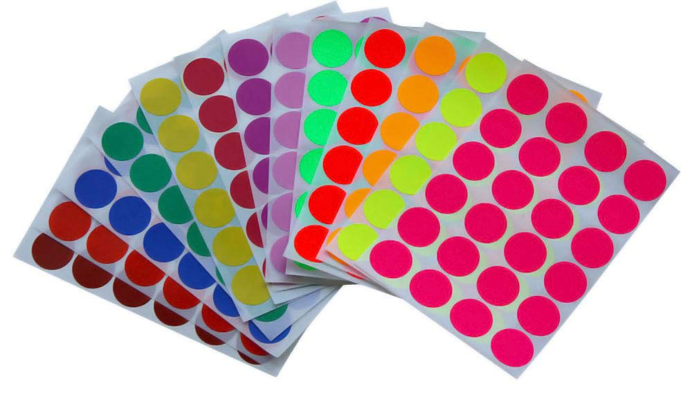 360 Pack Round Circle Dot Sticker in Pastel Green 25mm Royal Green Color Coding Labels