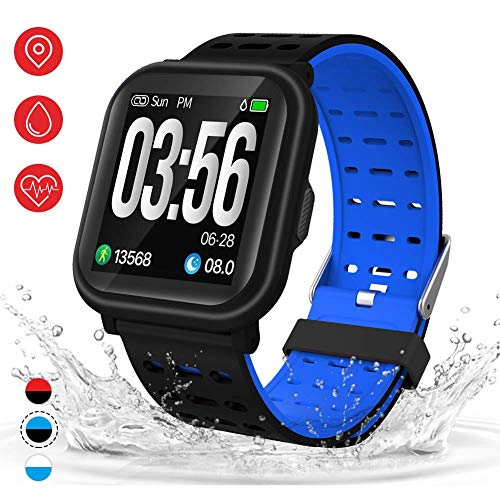 AKASO Smart Watch Fitness Tracker HR, Activity Tracker with Heart Rate Monitor, Waterproof Pedometer Watch,Step Counter, Calorie Counter, Sleep Tracker for Men Women Kids