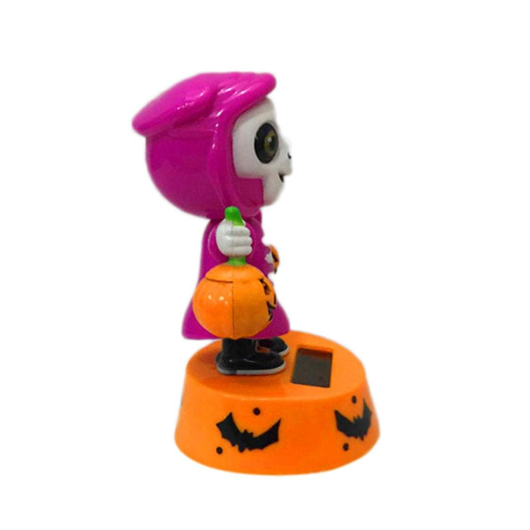 gtia solar power dancing novelty toys gift halloween decorations desk car toy ornament c