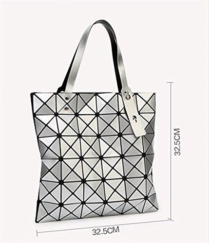 de Diamond Lingge Geometry red Bolso la Lady de moda Bolso Personalidad Bag hombro silver Bag BAO 1wEXRW