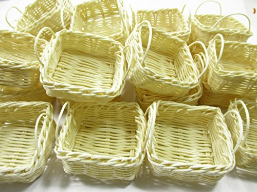 Dollhouse Miniature Handmade 30 Wicker Baskets Tray WHOLESALE Supply -