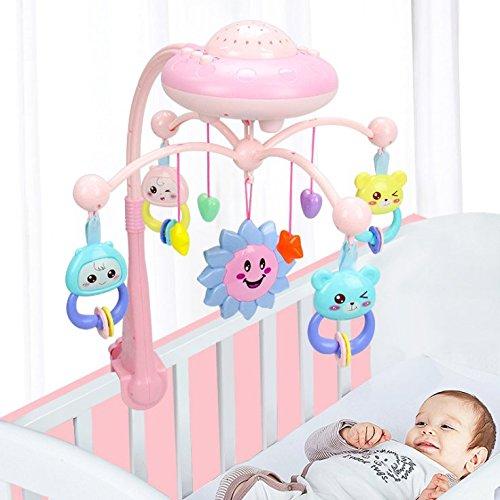 Mobile for Crib Baby Crib Mobile Mobile Hoder for Crib Mobiles for Cribs Bed Bell Crib Mobiles With Music Crib Mobile Holder Baby Bells (pink)