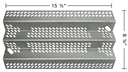 Grill American (Music City Metals 90351 Stainless Steel Heat Plate Replacement for Gas Grill Models American Outdoor Grill 30NB and American Outdoor Grill 30PC)