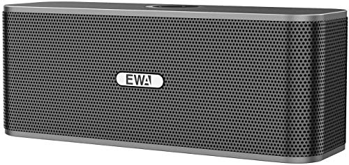 EWA W300 Bluetooth Speaker with Loud Stereo Sound, Portable Speaker for Travel, 8+ Hour Playtime, Outdoor Party Wireless Speaker, Support TF Card (Gray)