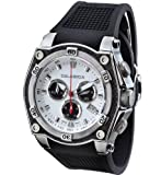 CALABRIA – SIGNORE – White and Black Dial Chronograph Men's Watch, Watch Central