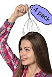 Head Massager Therapy Stainless Wire Hand Held Head Scalp Massager- 4 Pack