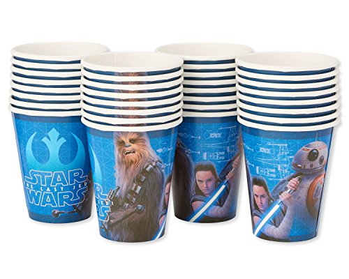 American Greetings Star Wars: The Last Jedi Party Supplies, Disposable 9 oz. Paper Cups, -
