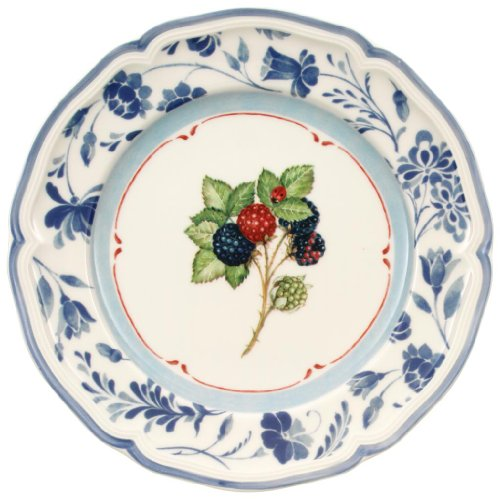 Villeroy & Boch Cottage Blue Stencil Rim Salad Plate Country Cottage Salad Plate