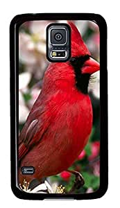 Samsung Galaxy S5 Red Bird PC Custom Samsung Galaxy S5 Case Cover Black