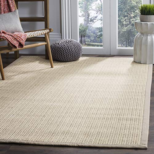 Safavieh Natural Fiber Collection NF475C Hand Woven Light Grey Wool & Sisal Area Rug (8