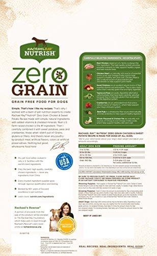 Rachael Ray Nutrish Zero Grain Natural Dry Dog Food, Chicken & Sweet Potato Recipe, 6 Pounds, Grain Free