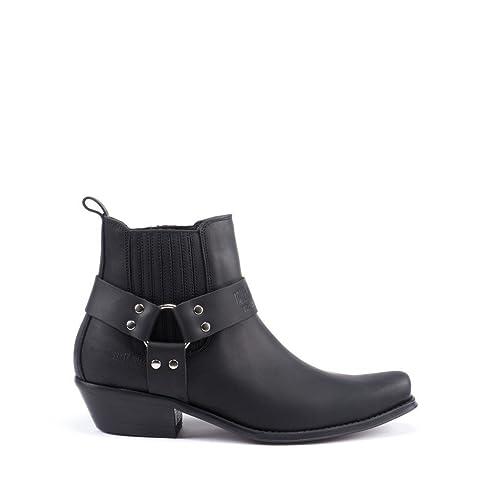 Esscelent Fashion 4709 Botines Camperos de Piel Con Tiras Hecho en España: Amazon.es: Zapatos y complementos