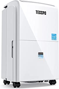 TECCPO 3000 Sq.Ft Dehumidifier, Powerful 30 Pint Dehumidifiers for Home, Intelligent Humidity Control, Continuous Draining