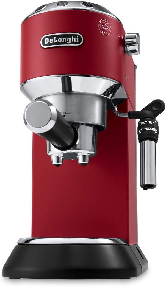 De'Longhi Dedica Style, Machine expresso pour préparer des boissons café et lactées, EC685R, Rouge