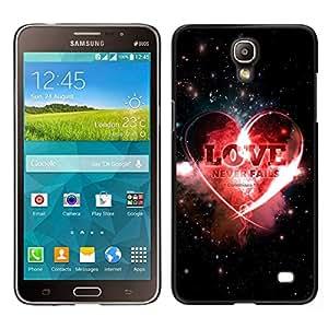// PHONE CASE GIFT // Duro Estuche protector PC Cáscara Plástico Carcasa Funda Hard Protective Case for Samsung Galaxy Mega 2 / BIBLE Love Never Fails - Corinthians 13:8 /