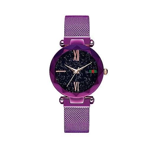 Relojes de Moda para Mujer Reloj imán Imán Relojes de Pulsera de Cuarzo Pulsera de aleación