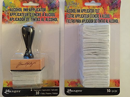 Alcohol Ink Applicator and Ink Applicator Felt Refill Bundle by Tim Holtz