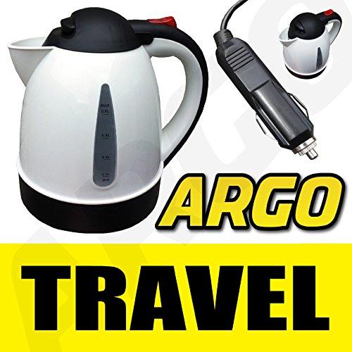 PLUG IN 12v CAR WHITE KETTLE WATER HEATER BOILER TEA COFFEE MAKER LORRY Argo