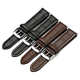 iStrap Genuine Calf Leather Watch Band Alligator Grain Padded for Men Women Color & Width (18mm,19mm, 20mm,21mm,22mm or 24mm)