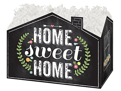 Pack Amp Burton (Large Chalkboard Home Sweet Home Basket Boxes 10-1/4 x 6 x 7-1/2
