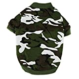 Sunward New Pet Camouflage Clothing Dog Cat Camo Hoody Apparel Puppy Doggy Coat T-shirt (ArmyGreen, M)