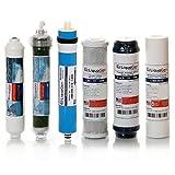 LiquaGen - 6 Stage Dual Use (Drinking & Aquarium Reef/Deionization) - RO/DI Reverse Osmosis Water Filter Kit (75 GPD)