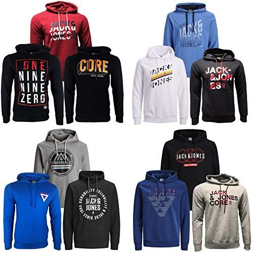 JACK & JONES Kapuzenpullover 3er Pack Hoodie Sweat Shirt Herren Baumwollmix S M L XL XXL (M, 3er Paket X 37)