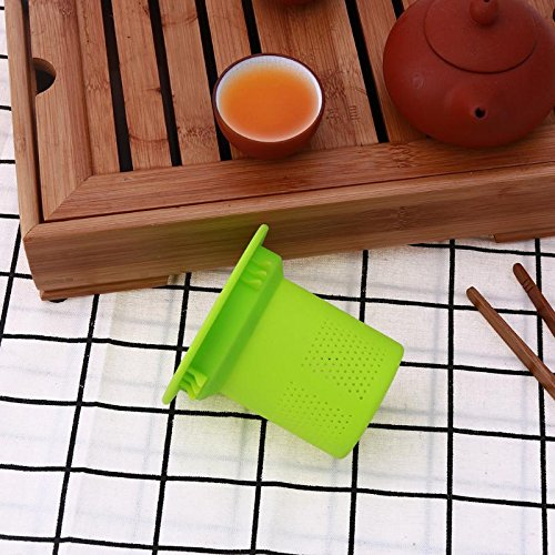 Funnytoday365 Mesh Tea Infuser Reusable Silicone Tea Strainer Filter Loose Tea Leaf Spice Strainer Drinkware Teapot Accessories by FunnyToday365 (Image #1)