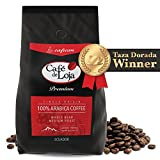 Café de Loja 100% Organic Arabica Gourmet Whole Bean Coffee (2.2 Lbs Bag)- Medium/Dark Roast Specialty Coffee Single Origin - Strict High Altitude Hard Bean GMO Free - Best High Mountain Coffee Beans