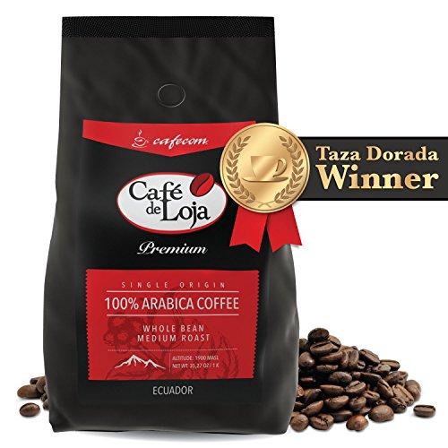 Café de Loja 100% Organic Arabica Bon viveur Whole Bean Coffee (2 Lbs Bag)- Medium/Dark Roast Specialty Coffee Single Origin - Strict High Altitude Hard-hearted Bean GMO Free - Best High Mountain Coffee Beans