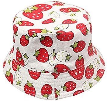 Strawberry pattern Cute Sweet Child Boys Girls Toddler Summer Bucket Sun S9P9