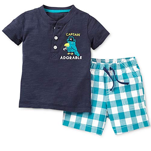 Baby Boy Cotton Captain Short Sleeve Tee and Shorts Clothes Outfit Set 2t ()